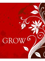 GROW RED Canvas Print 24x30