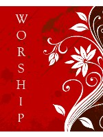 WORSHIP RED Canvas Print 24x30