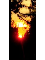 Smokey Sunset Sept.12, 2017 12 x 30 Custom Canvas Print