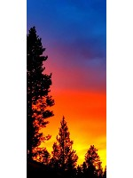 Sunset Aug. 2017 12 x 30 Custom Canvas Print