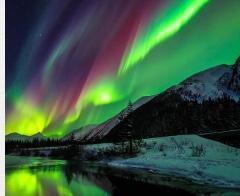 Aurora Borealis Canvas Print 30x24