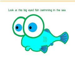 big eyed fish Canvas Print 14x11