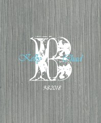 wedding monogram Canvas Print 16x20