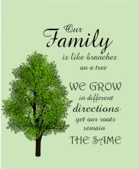 Family Tree Canvas Print 11x14
