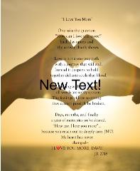 Beautiful words Canvas Print 11x14