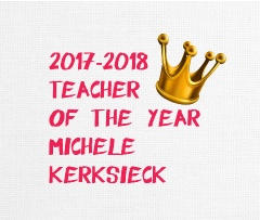 Teacher of year Canvas Print 10x8