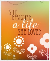 LIFE DESIGNED Canvas Print 11x14