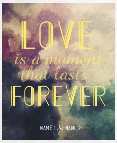 Design #48495 (Love) Canvas Print 16x20