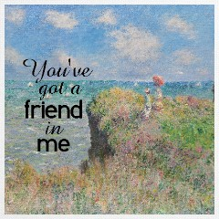 Design #48496 (Friendship) Canvas Print 12x12