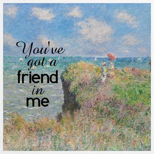 Design #48496 (Friendship) Canvas Print 12x12