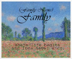 Design #48538 (Family) Canvas Print 30x24