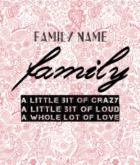 Design #48562 (Family) Canvas Print 20x24