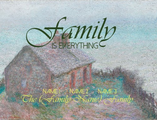 Design #48563 (Family) 14 x 10 Custom Canvas Print