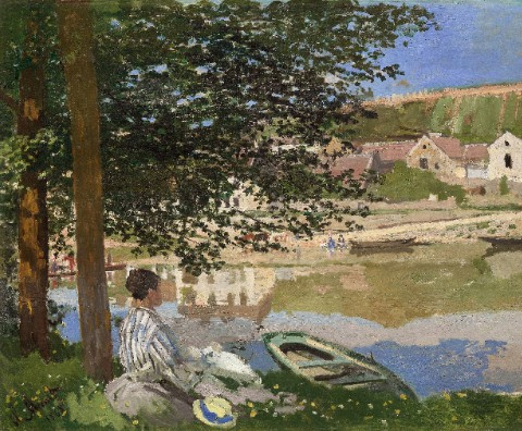 On the Bank of the Seine, Bennecour Canvas Print 20x16