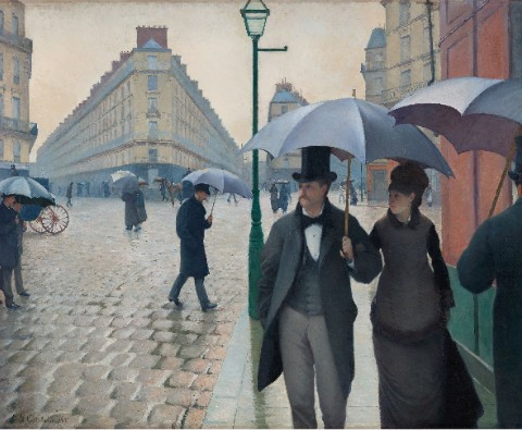 Paris Street; Rainy Day Canvas Print 14x11