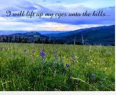 Unto the hills Canvas Print 30x24