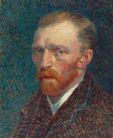 Self Portrait by Vincent Van Gogh Canvas Print 24x30