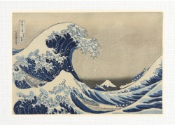 The Great Wave by Katsushika Hokusa 18 x 12 Custom Canvas Print
