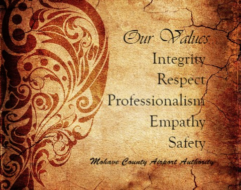 Our Values Canvas Print 16x12