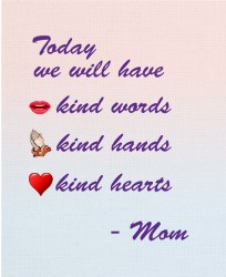 kind mom quote 16 x 20 Custom Canvas Print XPress