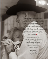 Nana and PopPop 16 x 20 Custom Canvas Print XPress