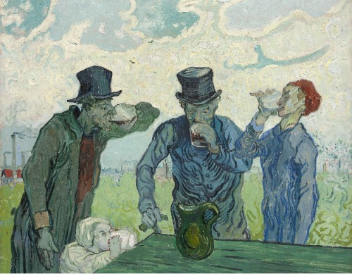 The Drinkers by Vincent van Gogh. 16 x 12 Custom Canvas Print XPress