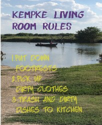 Living Room Rules 16 x 20 Custom Canvas Print XPress