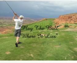 Play The Ball Where It Lies 20 x 16 Custom Canvas Print XPress