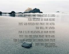 Romans 10:9-10 Canvas Print 16x12