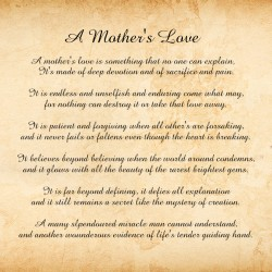 A Mother's Love 20 x 20 Custom Canvas Print