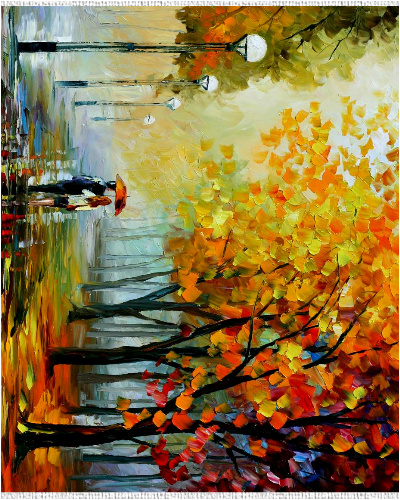 A walk in the Park Canvas Print 24x30