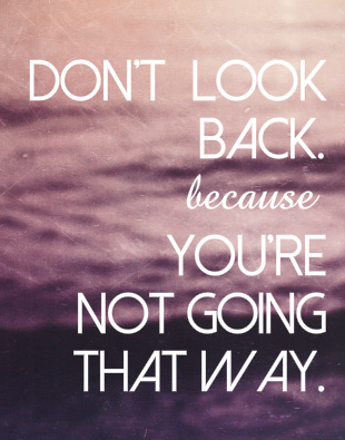 Don't Look Back Canvas Print 11x14