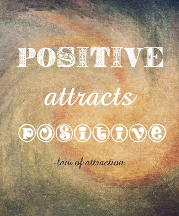 Positive Attracts Positive Canvas Print 20x24