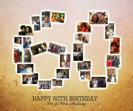 60th Bday Canvas Print 24x20