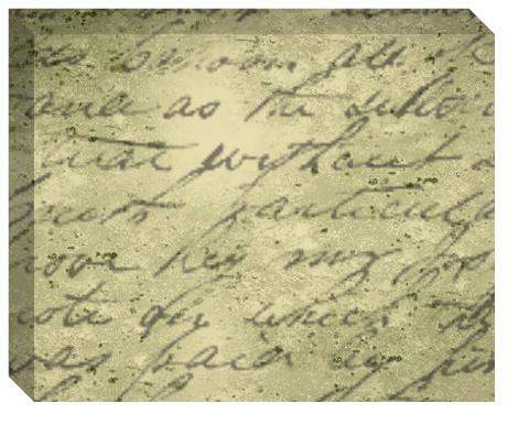 Handwritten Poem Canvas Print 20x16