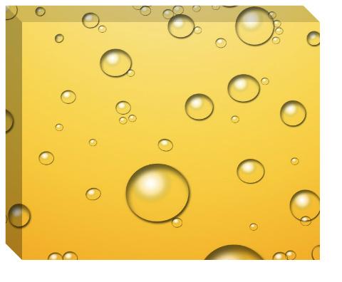 Champagne Bubbles Canvas Print 20x16