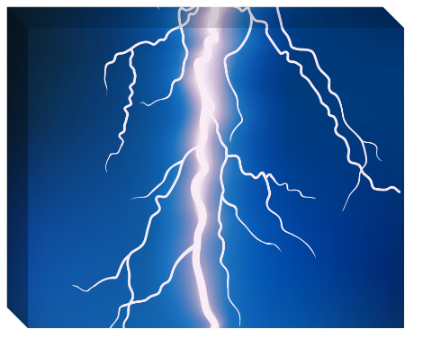Lightning Bolt Canvas Print 20x16