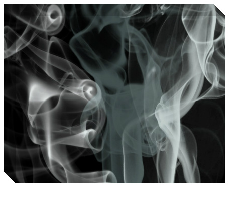 Black Smoke Canvas Print 20x16