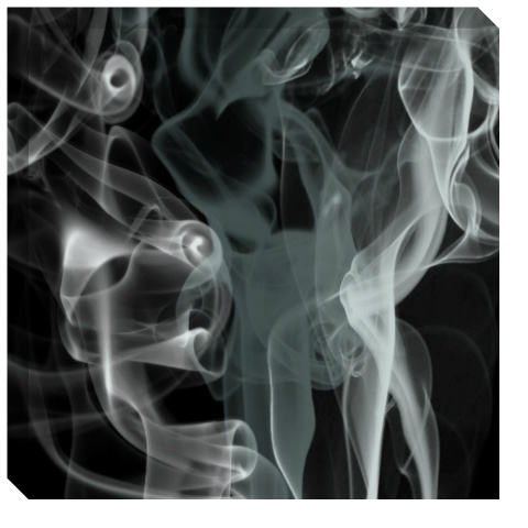Black Smoke Canvas Print 24x24