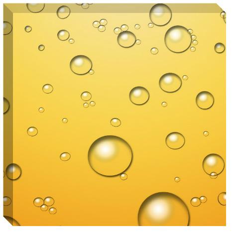 Champagne Bubbles Canvas Print 24x24