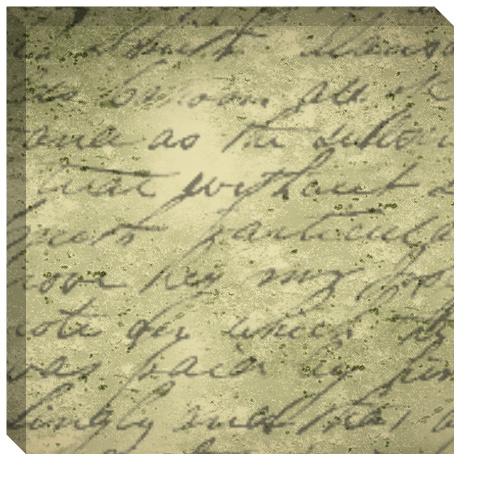 Handwritten Poem Canvas Print 24x24