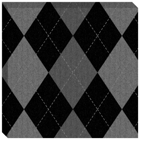 Gray Argyle Pattern Canvas Print 24x24