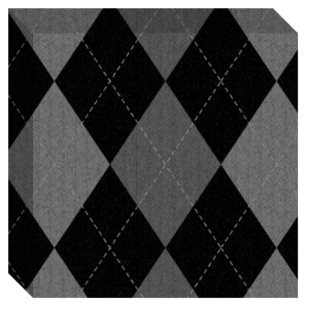 Gray Argyle Pattern Canvas Print 12x12