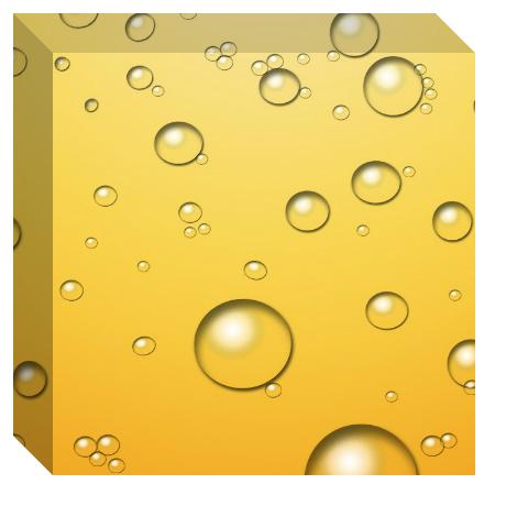 Champagne Bubbles Canvas Print 12x12