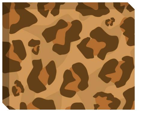 Classic Large Leopard Print Canvas Print 20x16