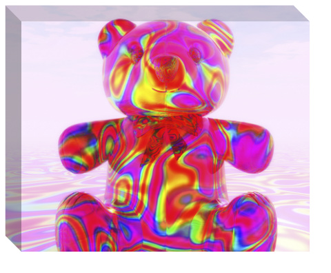 Pink Beary Bear Canvas Print 20x16