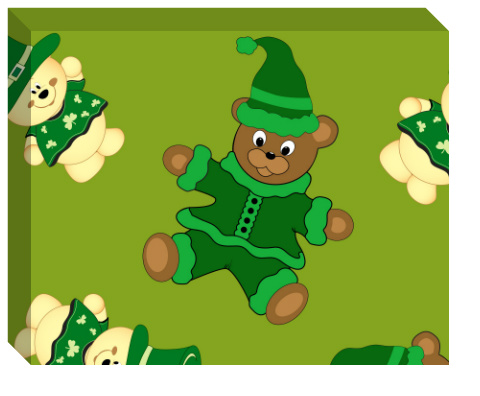 St Pattys Day Bears Canvas Print 20x16