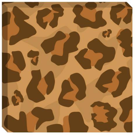 Classic Large Leopard Print Canvas Print 24x24