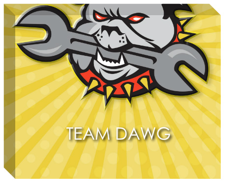 Team Dawg Canvas Print 20x16