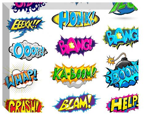 Pow Boom Zap! Canvas Print 20x16